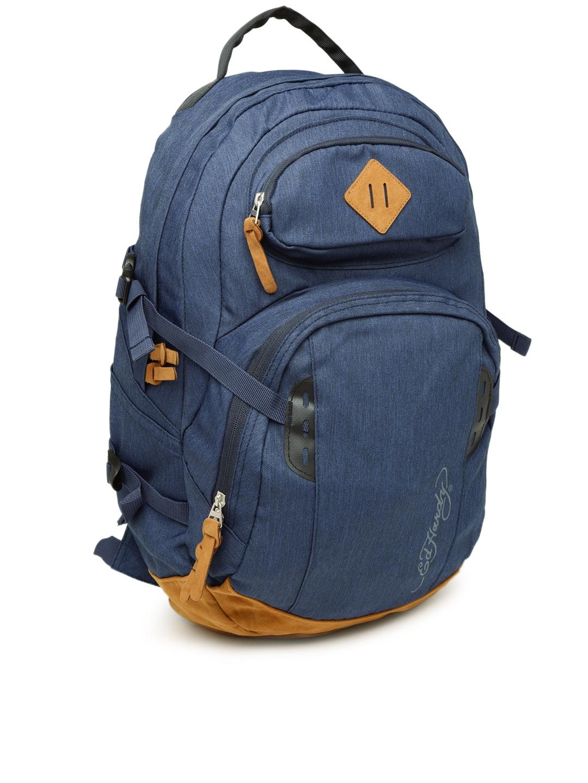 Buy Ed Hardy Men Navy Waterproof Backpack - Backpacks for Men ... 464baadb872b2