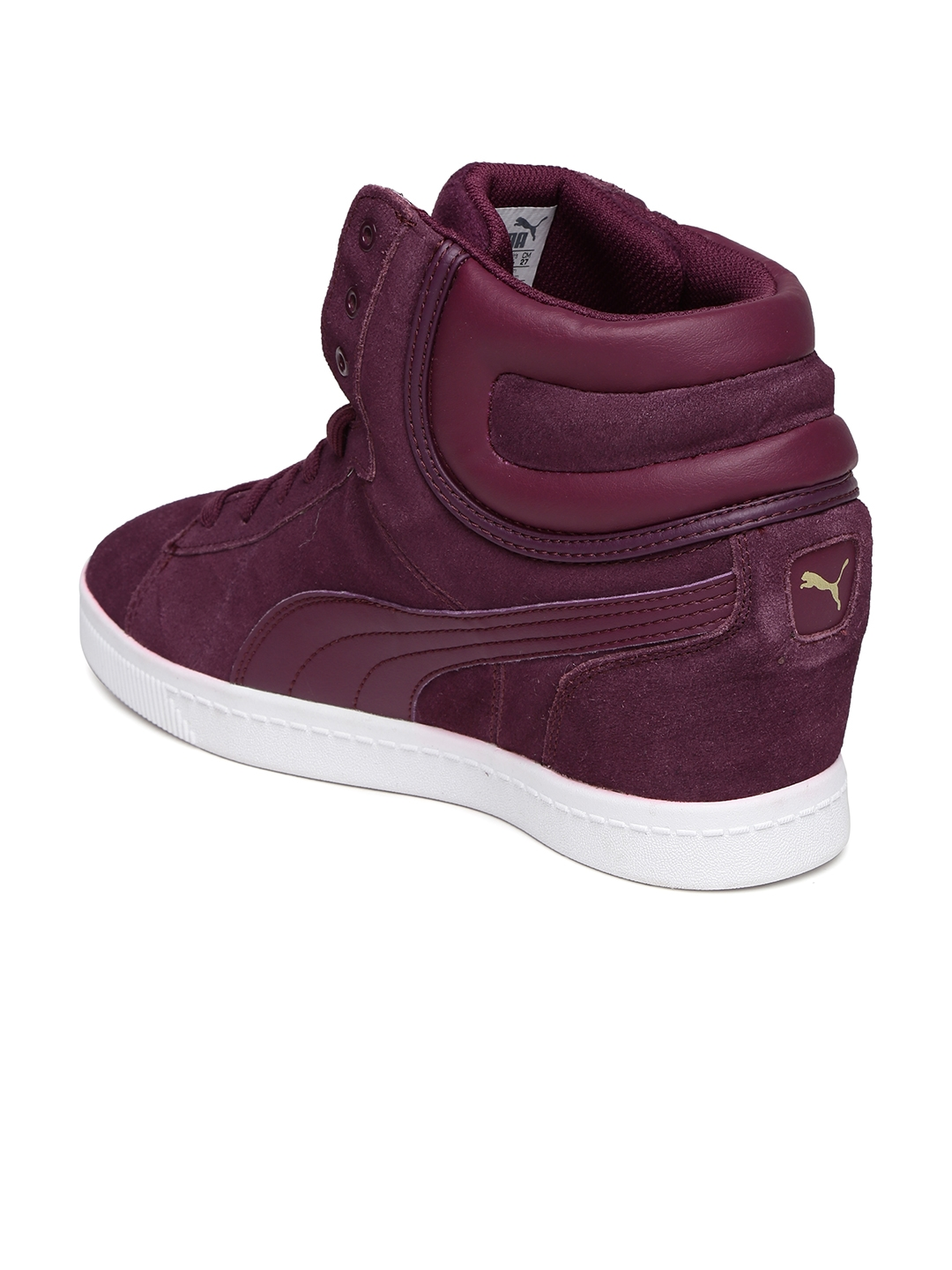 49af4889d31 Buy Puma Women Purple Vikky Wedge Suede Sneakers - Casual Shoes for ...