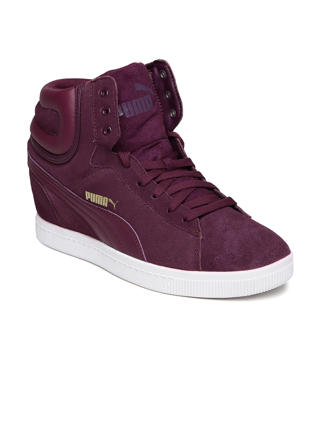 38c5460b38e5 Buy Puma Women Purple Vikky Wedge Suede Sneakers - Casual Shoes for ...