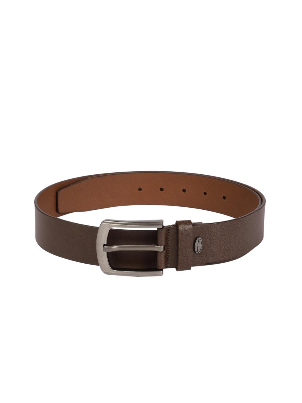 BOXER Men Brown Solid Spanish Genuine Leather Belt BB4 02 B32