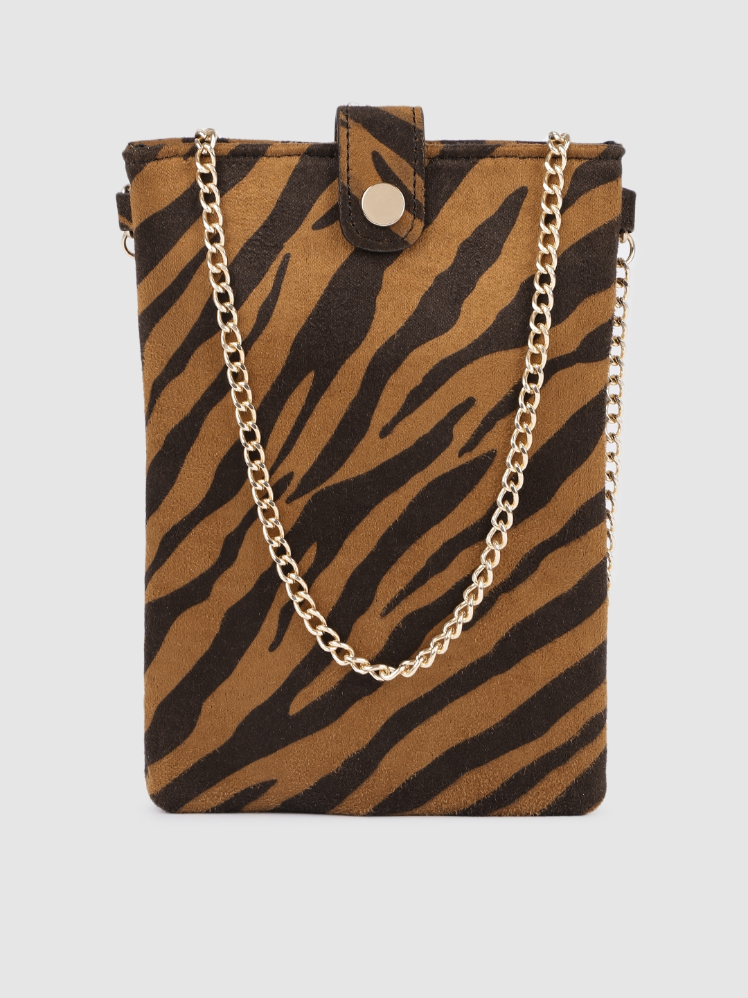 Accessorize Women Brown Printed Mobile Pouch