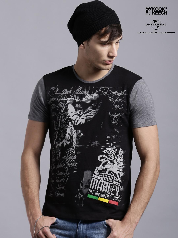 5e00229ef Buy Kook N Keech Music Black Bob Marley Printed T Shirt - Tshirts ...