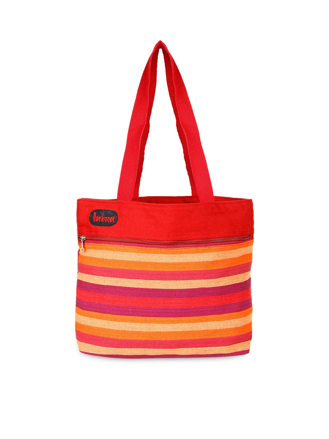 faadf4e70 Buy Anekaant Red Striped Canvas Tote Bag - Handbags for Women ...