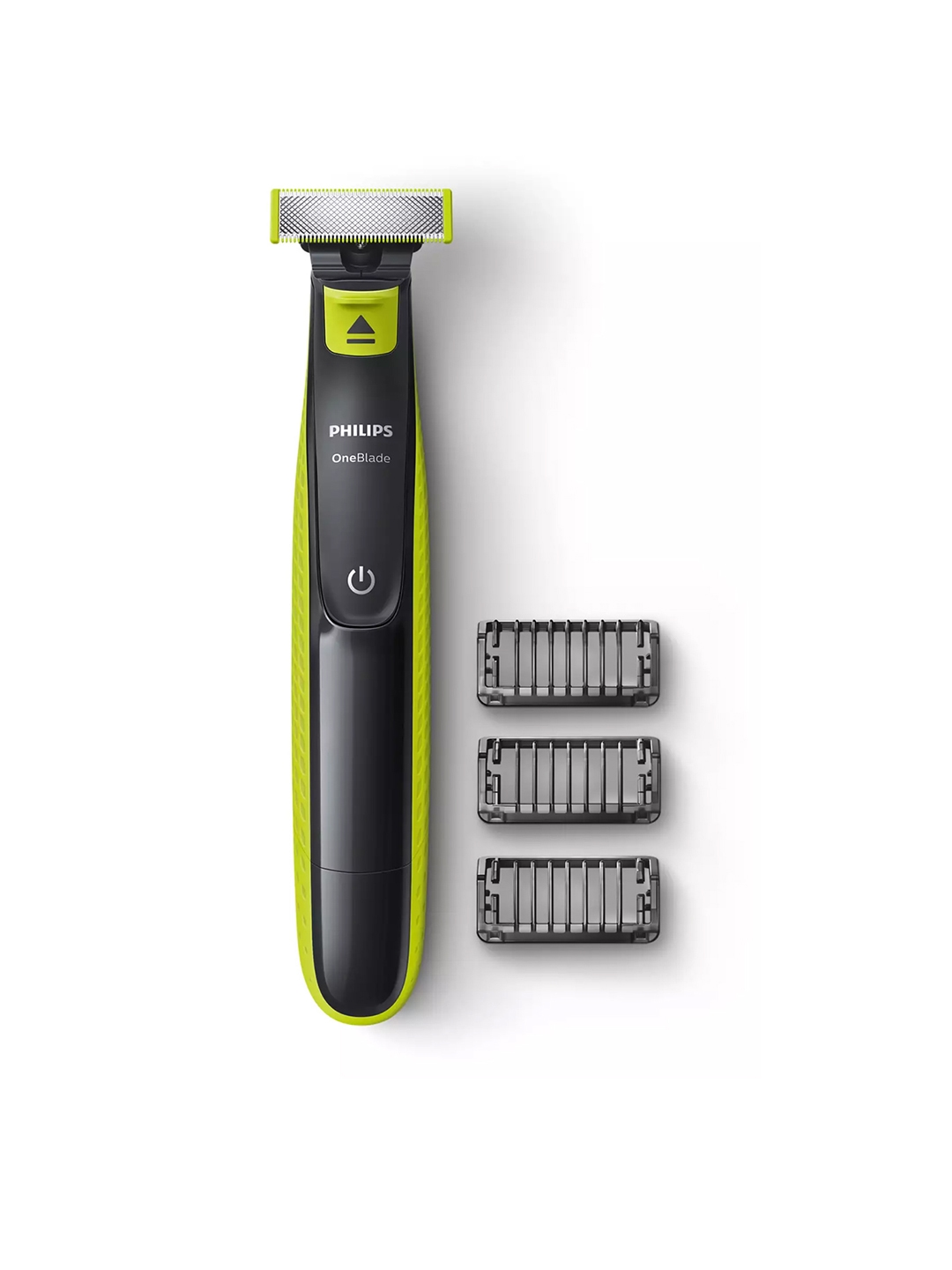Philips Men QP2525/10 Hybrid OneBlade Trimmer   3 Trimming Combs   Black   Green