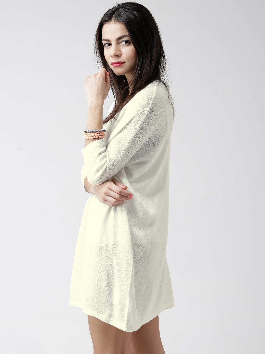 Buy Forever 21 Cream Coloured Sweater Dress Dresses For Women