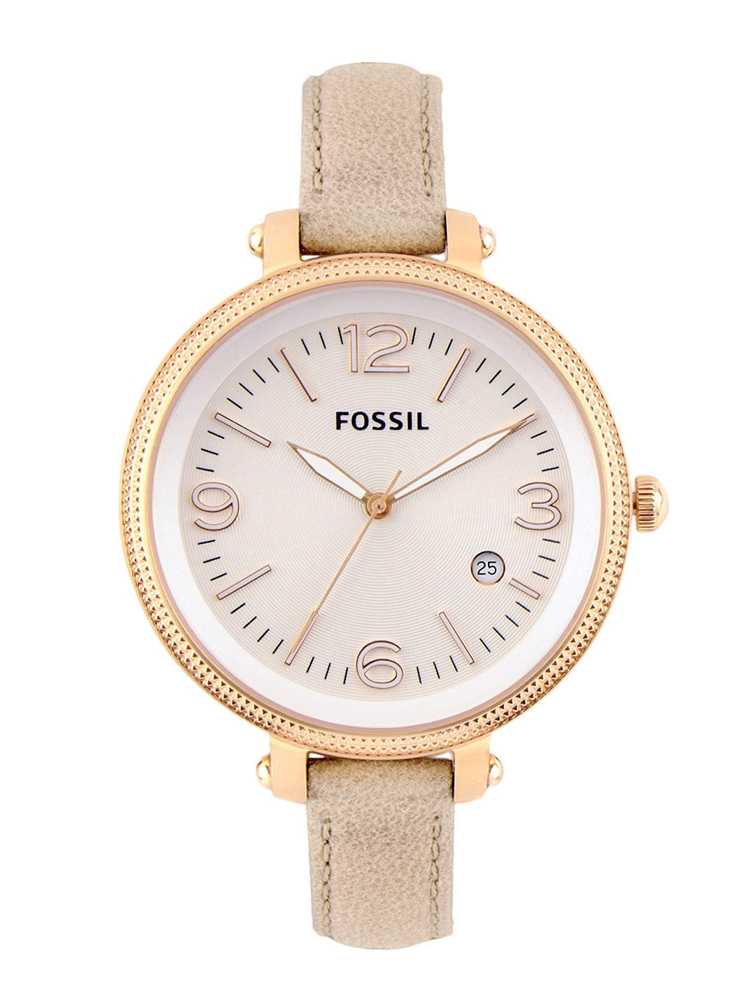 Buy fossil women beige dial watch es3133 watches for women myntra for Watches for girls