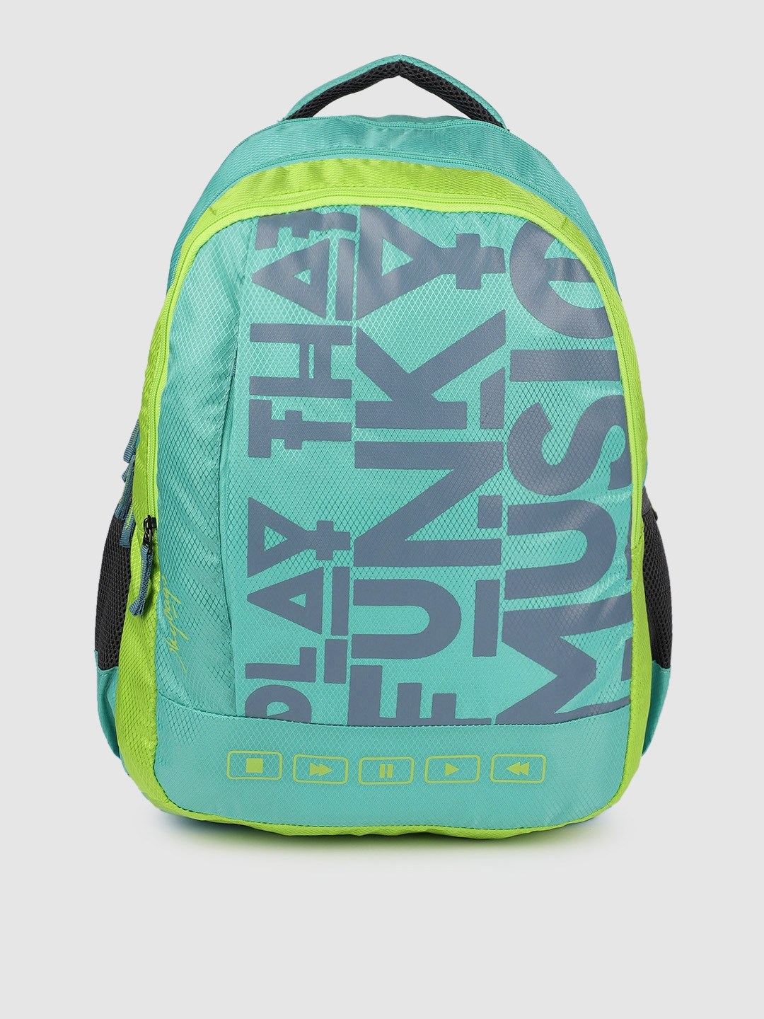 Skybags Unisex Sea Green Typography Backpack
