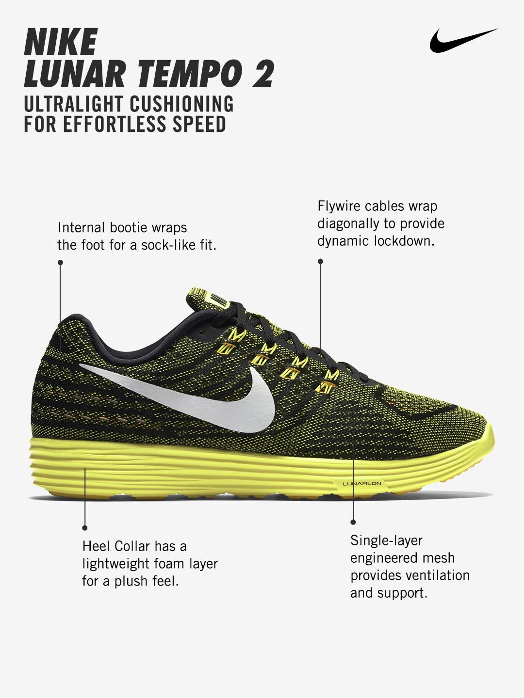 336ad448e83 Buy Nike Men Black   Yellow LunarTempo 2 Running Shoes - Sports ...