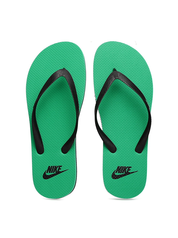 4b9de87ff93 Buy Nike Men Black   Green Aquaswift Flip Flops - Flip Flops for Men  1110547