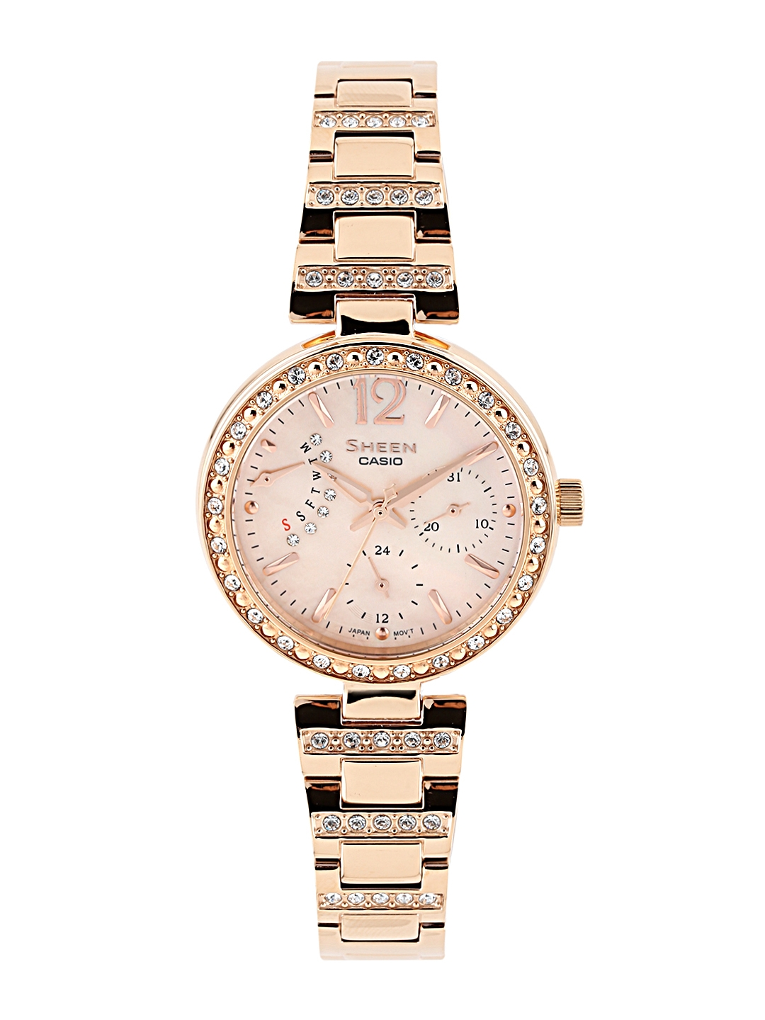 more photos d1829 bd737 CASIO Sheen Women Pink Multi-Dial Watch SHE-3043PG-9AUDR - SX162