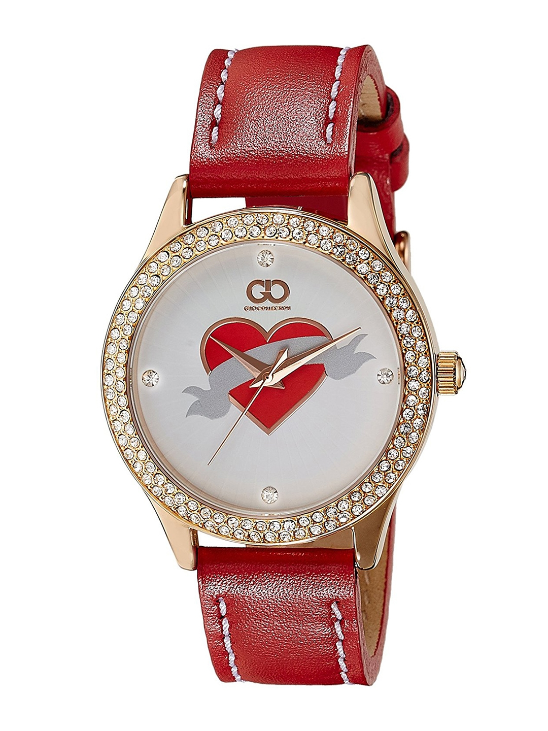 GIO COLLECTION Women Silver Toned   Red Analogue Watch