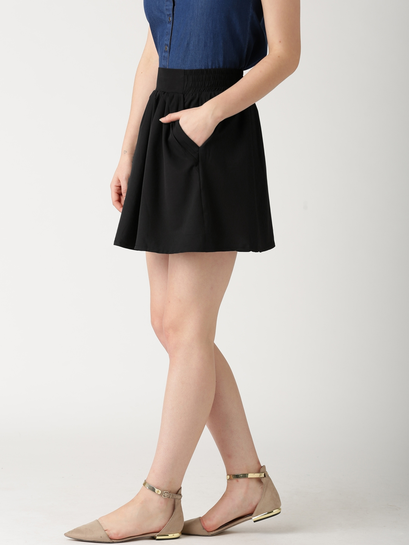0862d24217c Buy DressBerry Black Mini Flared Skirt - Skirts for Women 1116076 ...