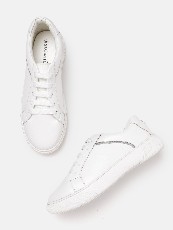 Buy DressBerry Women White Sneakers