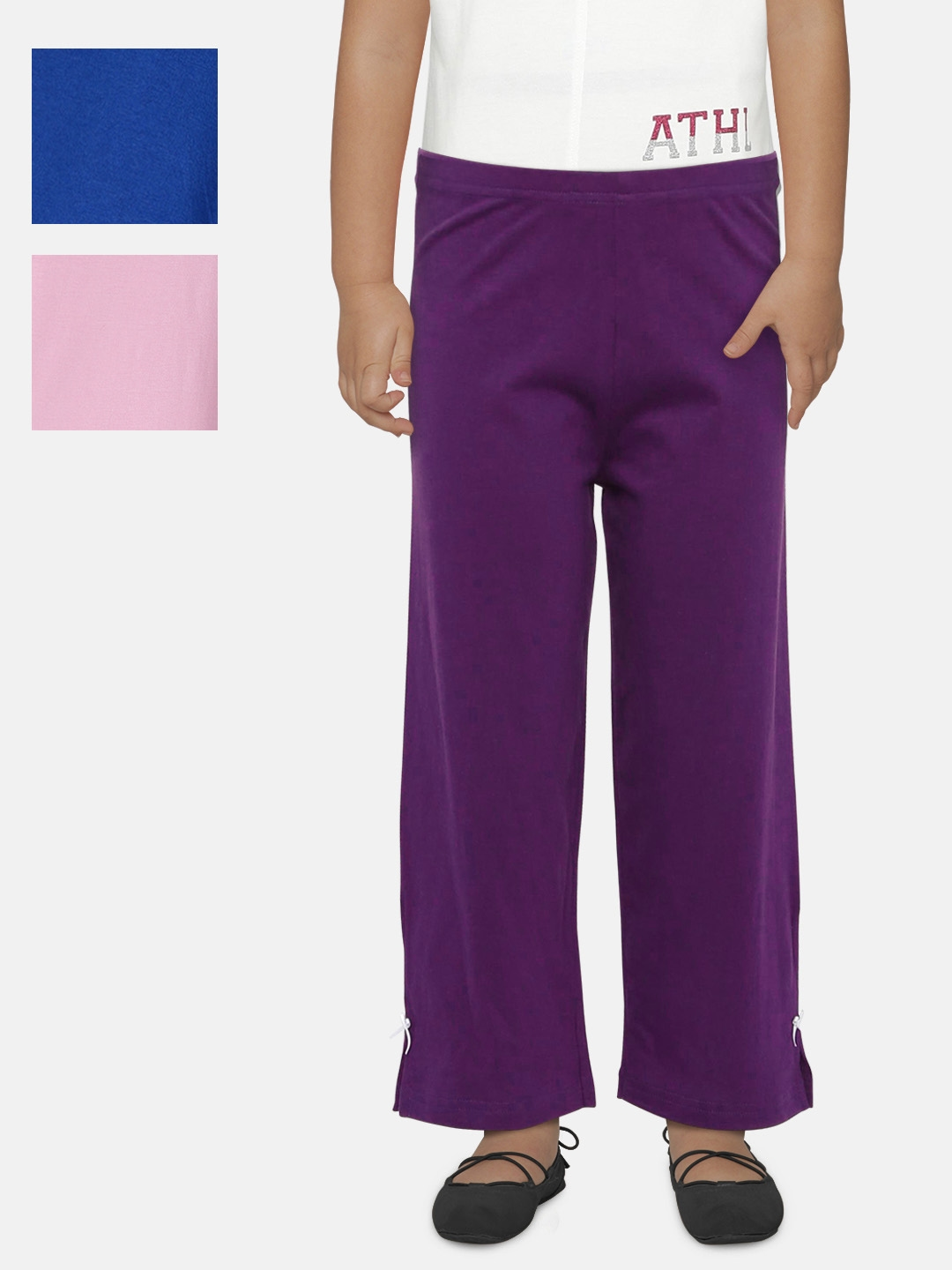 Lil Orchids Girls Pack of 3 Track Pants