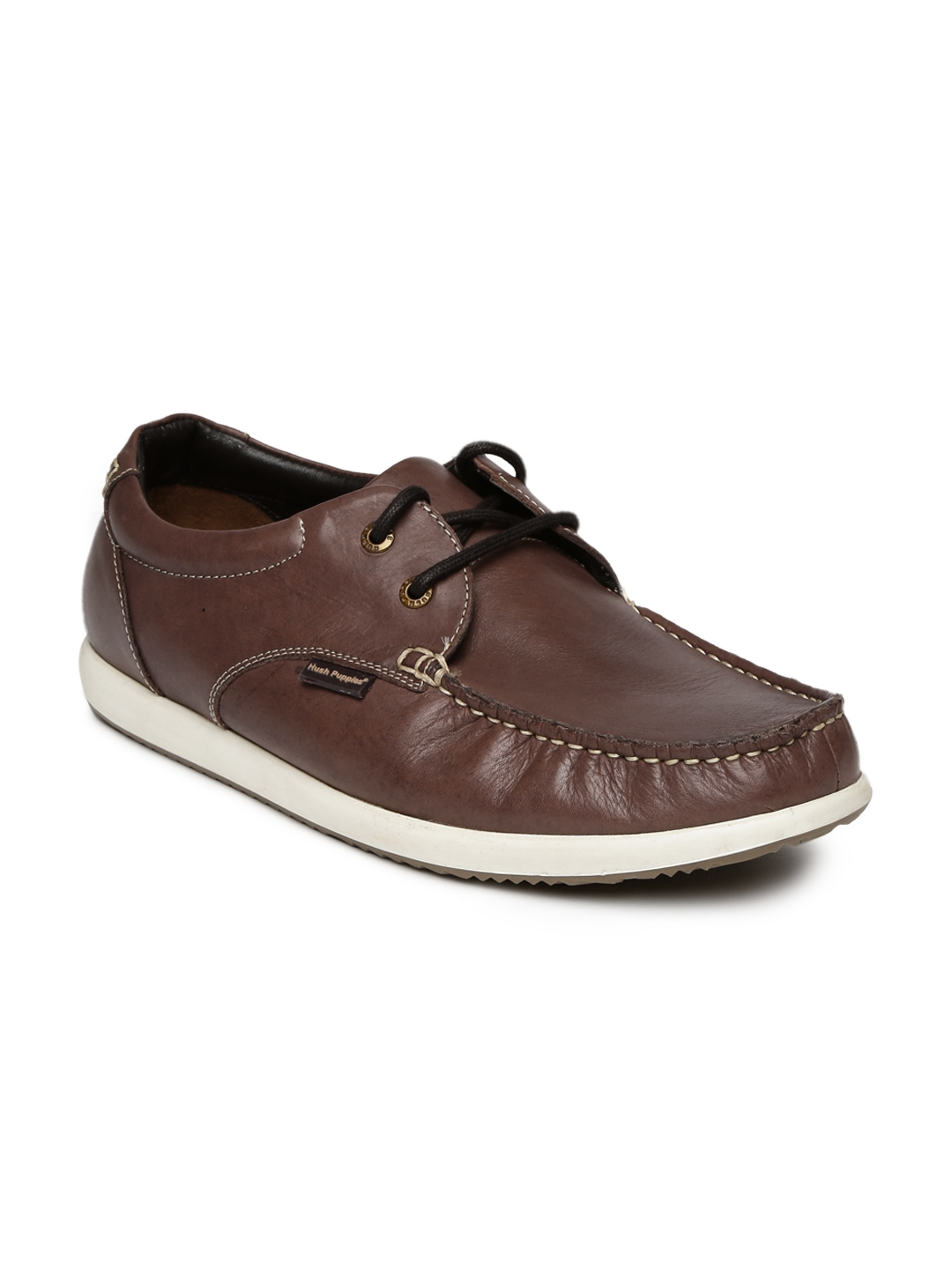 13c69b8d28 Buy Hush Puppies By Bata Men Brown Leather Casual Shoes - Casual ...