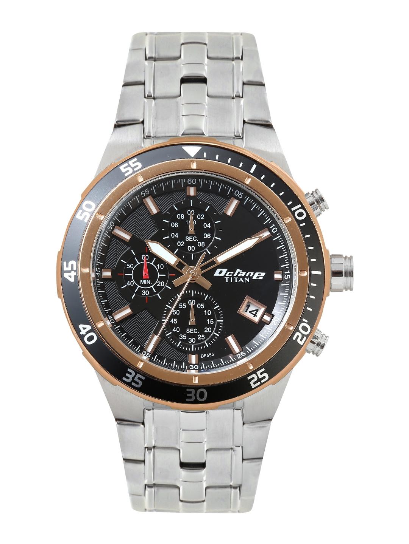 3842a46d21 Buy Titan Octane Men Black Dial Chronograph Watch 9466KM11J ...