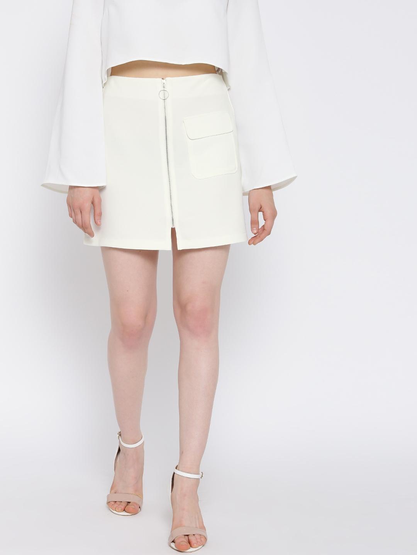 fa5dc3295b Buy FOREVER 21 Off White Mini A Line Skirt - Skirts for Women ...