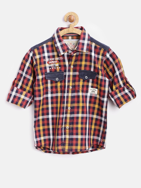 a787f56fbe Buy GJ Unltd Jeans By Gini & Jony Boys Multicoloured Checked Shirt ...
