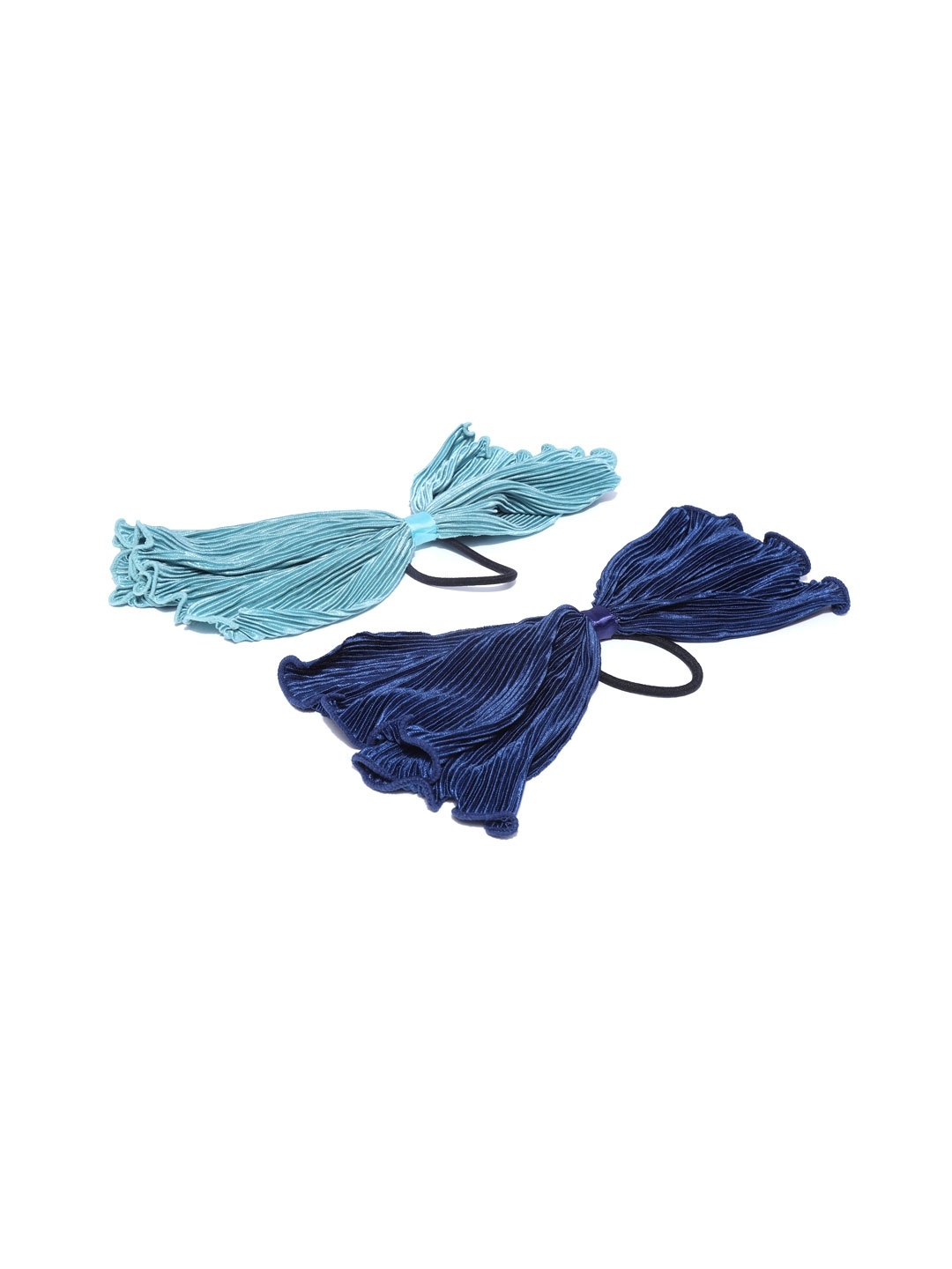 Blueberry Set of 2 Blue Ponytail Holders