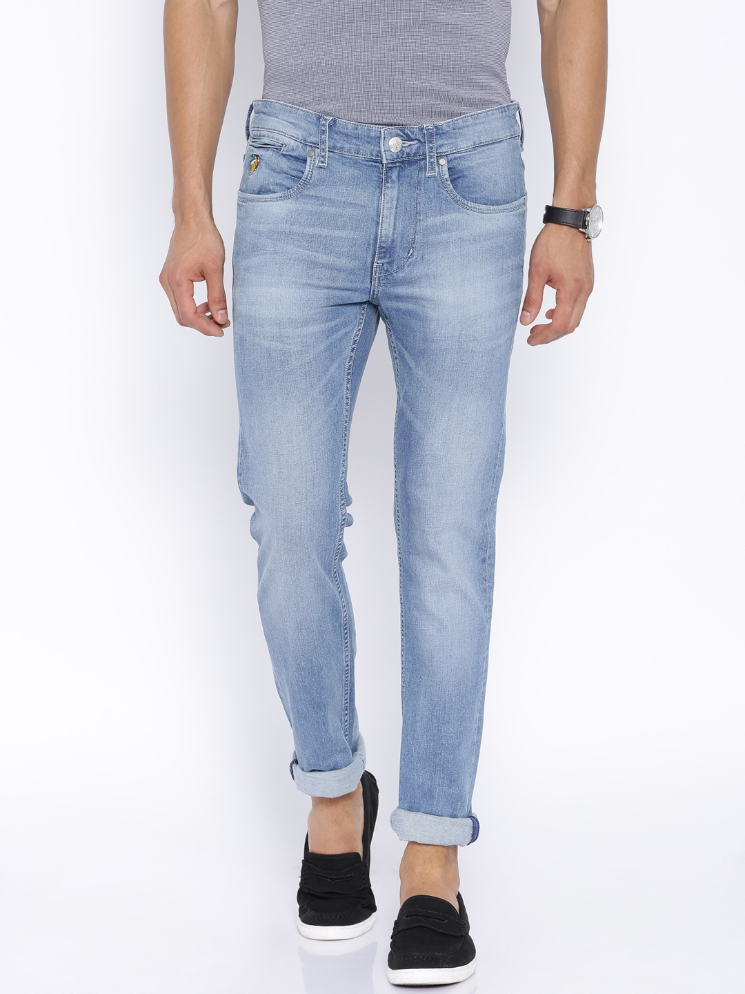2249f7b6b8 Buy U.S. Polo Assn. Denim Co. Blue Washed Regallo Skinny Jeans - Jeans for  Men 1142150