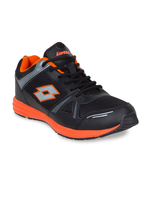 Buy Lotto Men Black Running Shoes