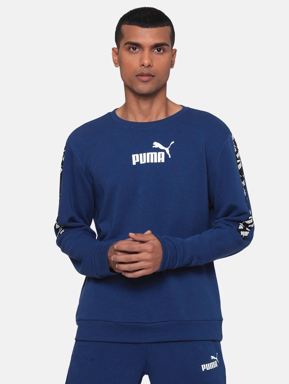 Puma Men Blue Printed Sweatshirt