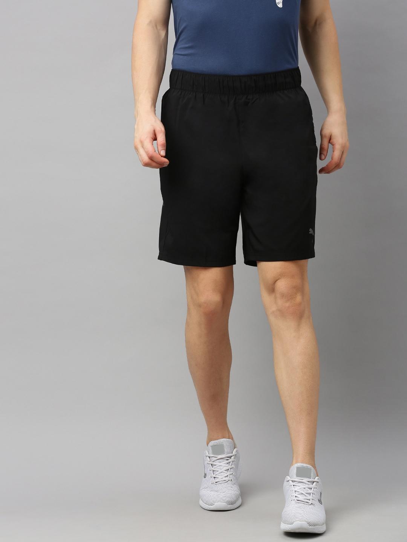 Puma Men Black Solid Regular Fit dryCELL Sports Shorts