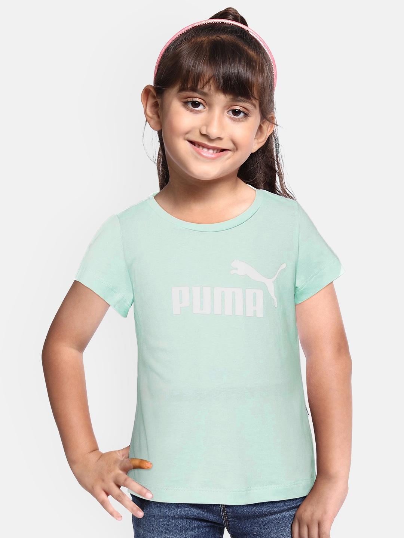 Puma Girls Green Printed T shirt