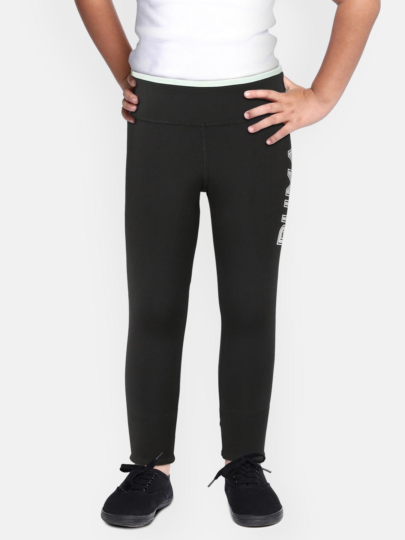 Puma Girls Black Printed Modern Sports Leggings