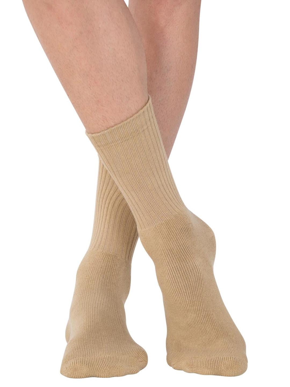 Jockey Men Khaki Brown Solid Calf Length Socks