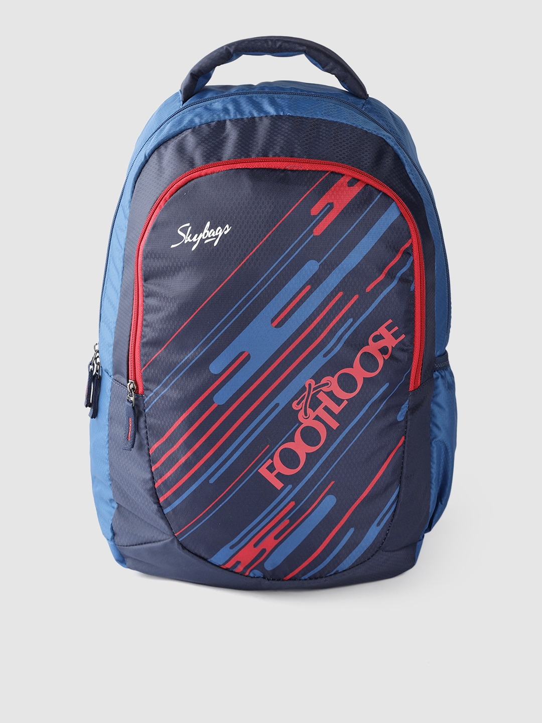 Skybags Unisex Blue   Red Printed Laptop Backpack