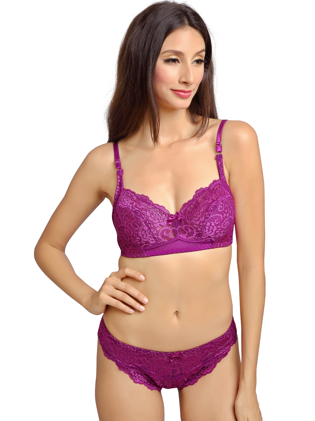 6bc261b13f Buy Lady Love Purple Lace Lingerie Set LLSET5009 - Lingerie Set for ...