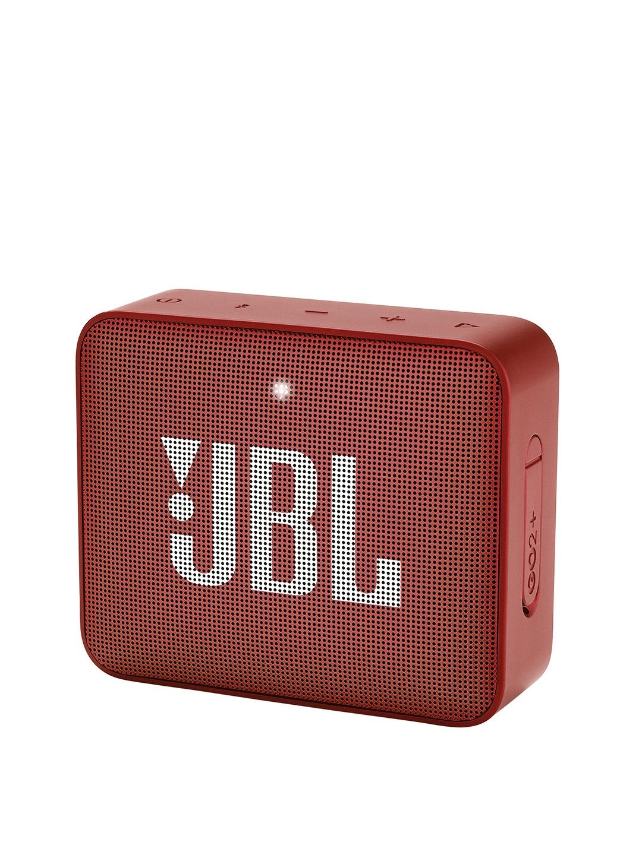 JBL Red GO2PLUS Portable Waterproof Bluetooth Speaker
