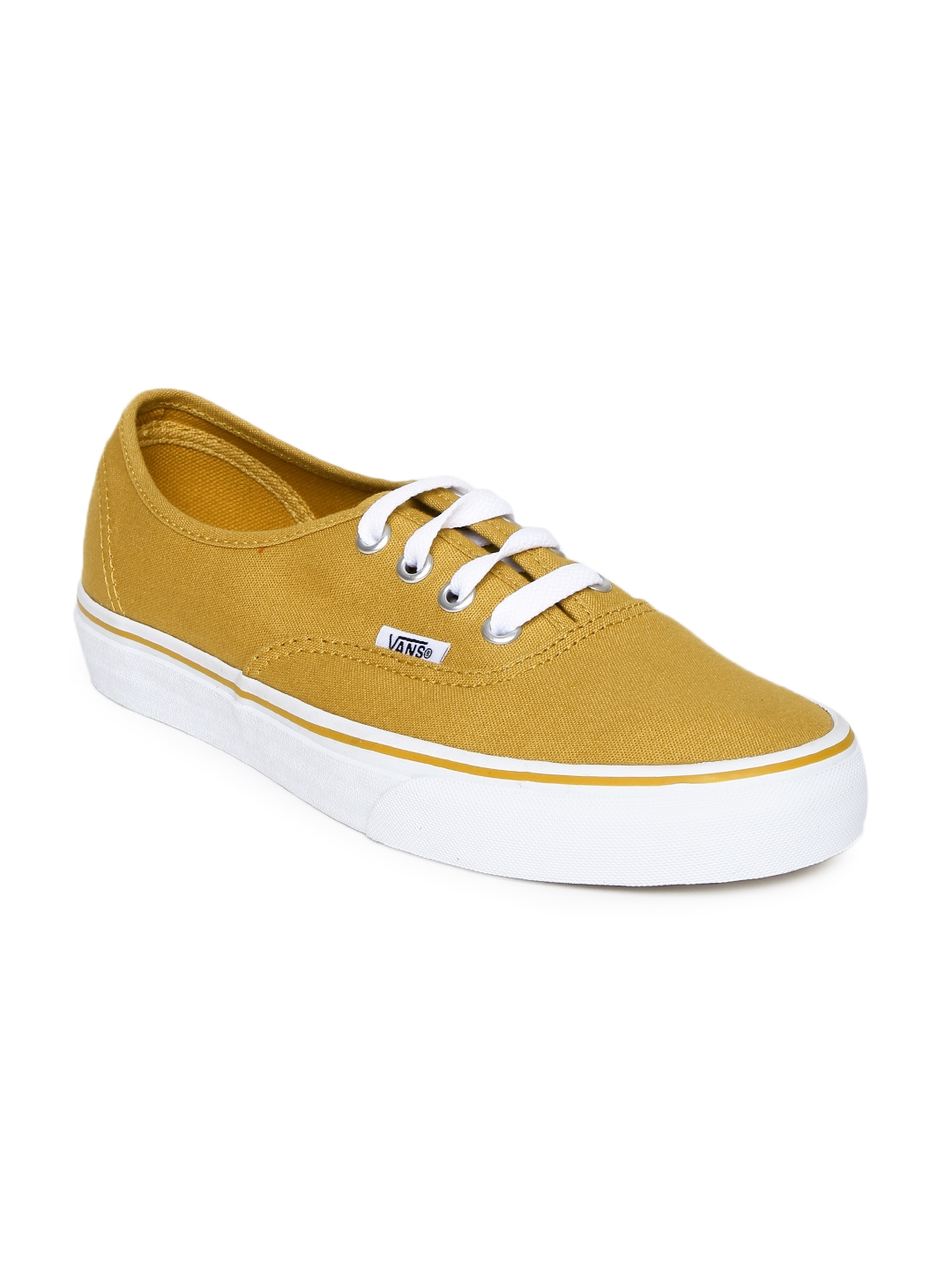 2170691648f Buy Vans Unisex Mustard Yellow Authentic Casual Shoes - Casual Shoes ...