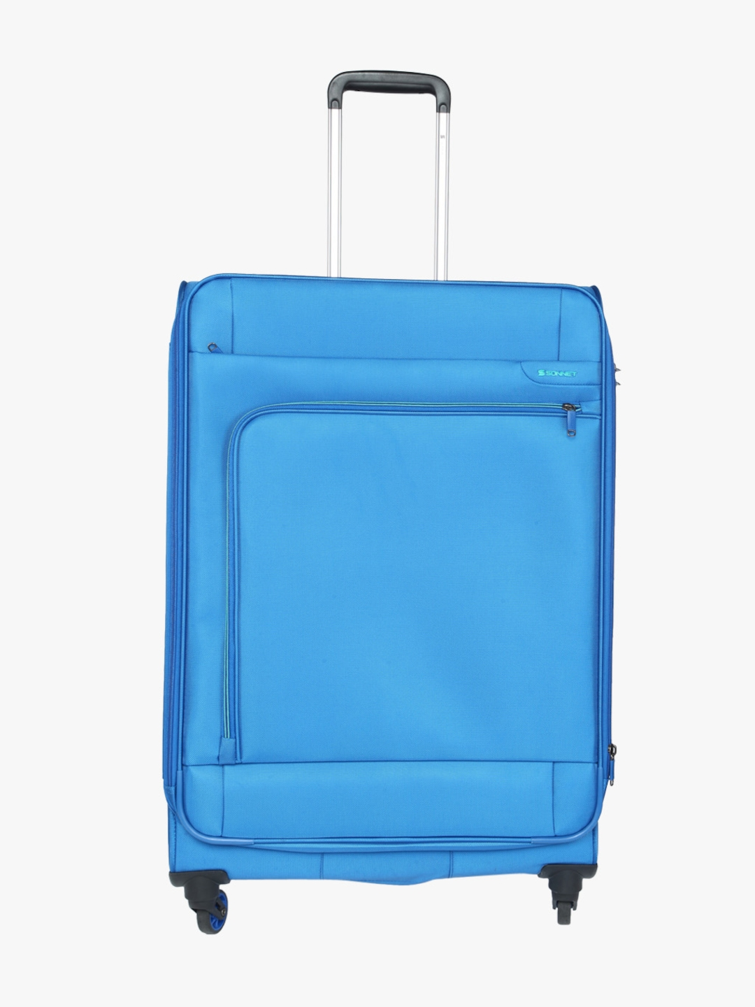 Sonnet Blue Solid 4 Wheel Check In Soft Luggage