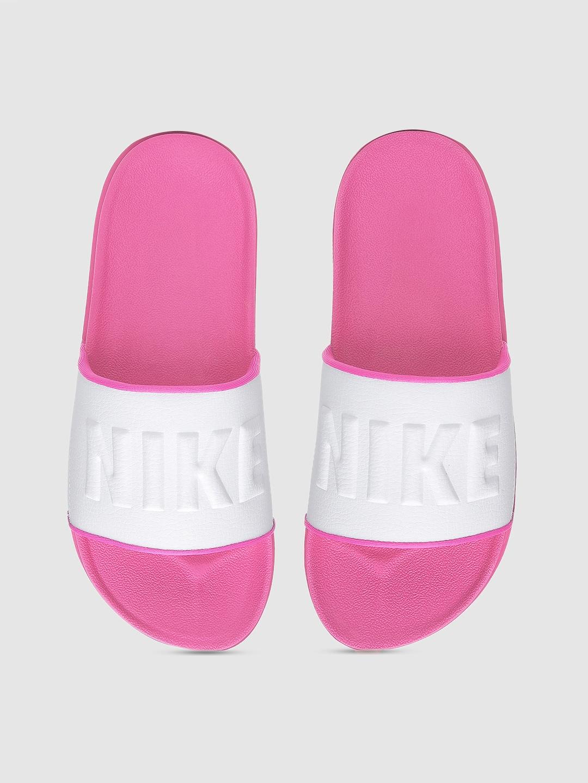 Buy Nike Women Pink \u0026 White Printed