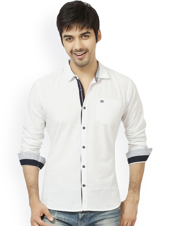 L.A. SEVEN White Slim Fit Casual Shirt