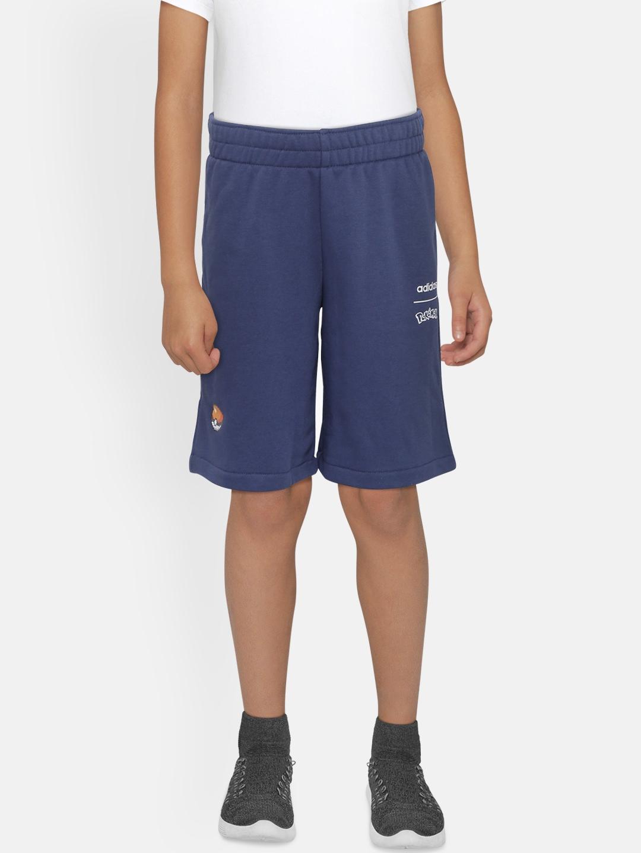 ADIDAS Boys Blue Solid Pokemon Shorts