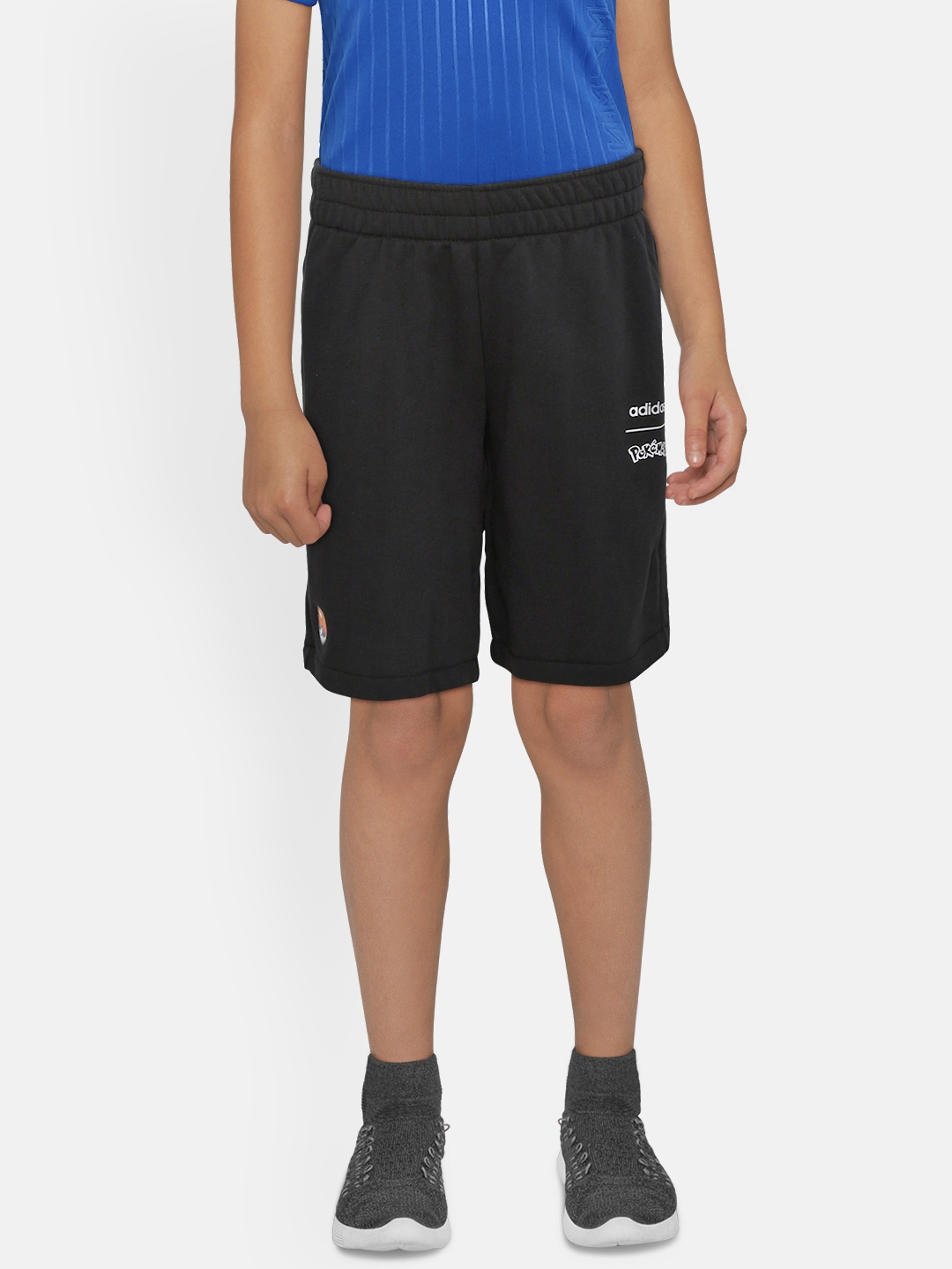 ADIDAS Boys Black Solid Pokemon Shorts