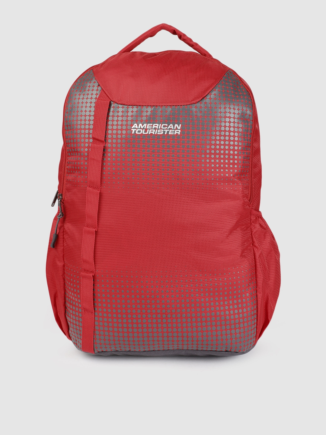 AMERICAN TOURISTER Unisex Red Geometric DAZZ Backpack