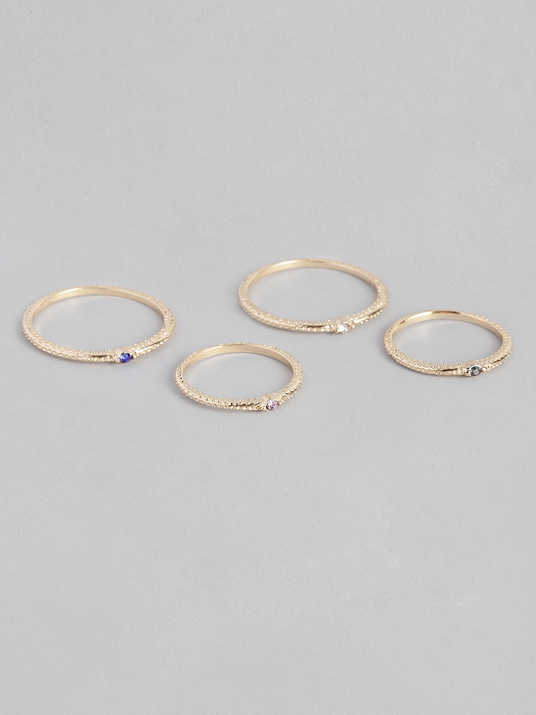 Accessorize Women Gold Toned Set of 4 Finger Rings