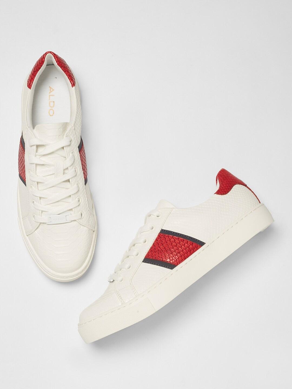 Buy ALDO Women White \u0026 Red