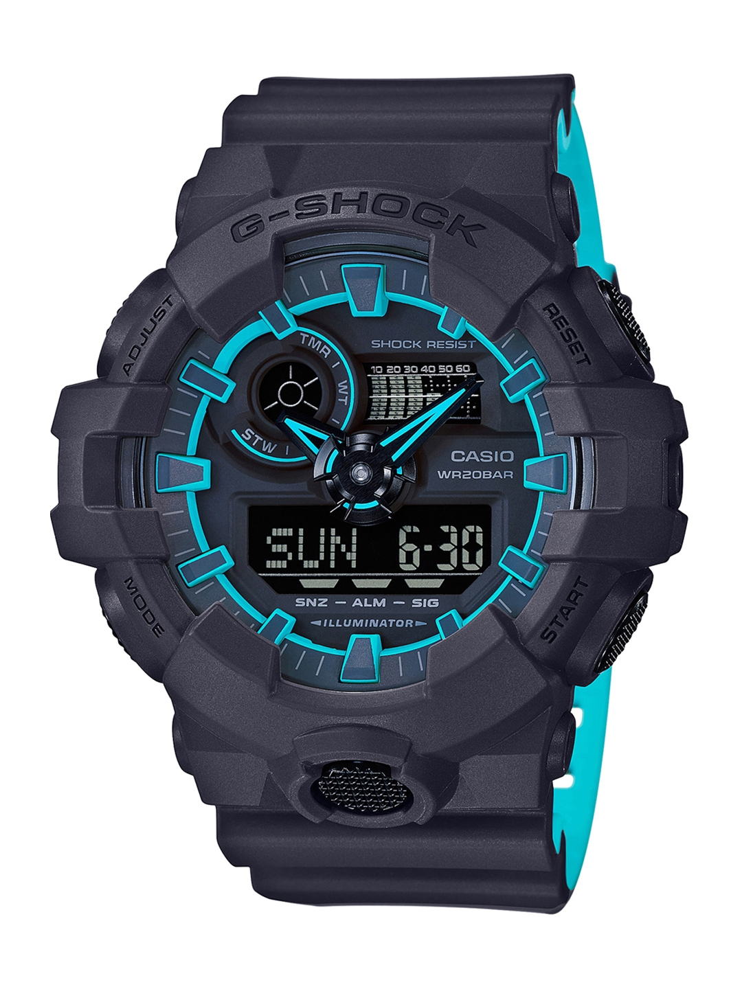 CASIO G Shock Men Black Blue Analogue and Digital Watch G762 GA 700SE 1A2DR