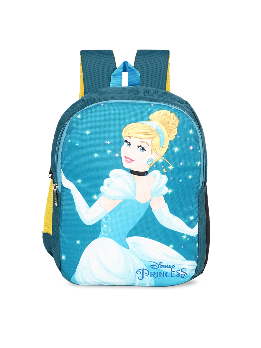 Priority Girls Blue   Yellow Cinderella Princess Graphic Backpack
