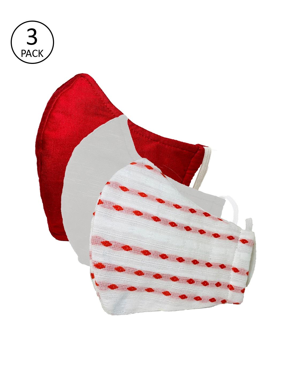 Sera Unisex 3 Pcs 3 Ply Reusable Outdoor Fabric Masks