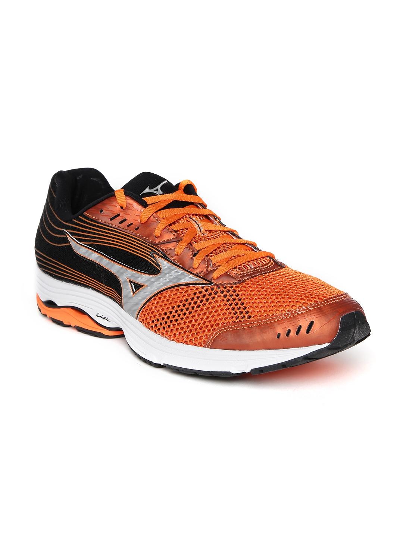 Mizuno Men Orange   Black Wave Sayonara 3 Sports Shoes
