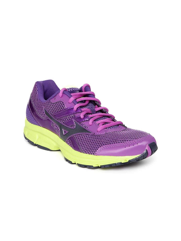 new arrival 0f7a0 b8d84 Mizuno Women Purple Spark Running Shoes