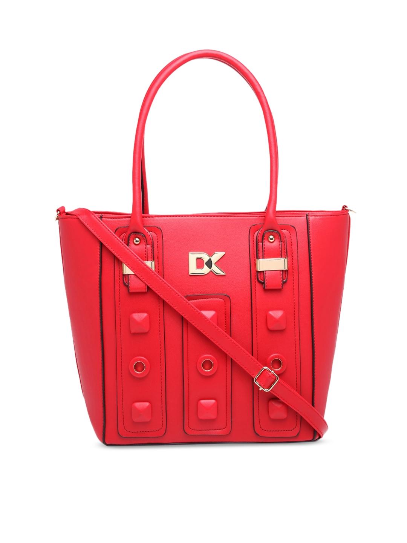 Diana Korr Red Embellished Shoulder Bag