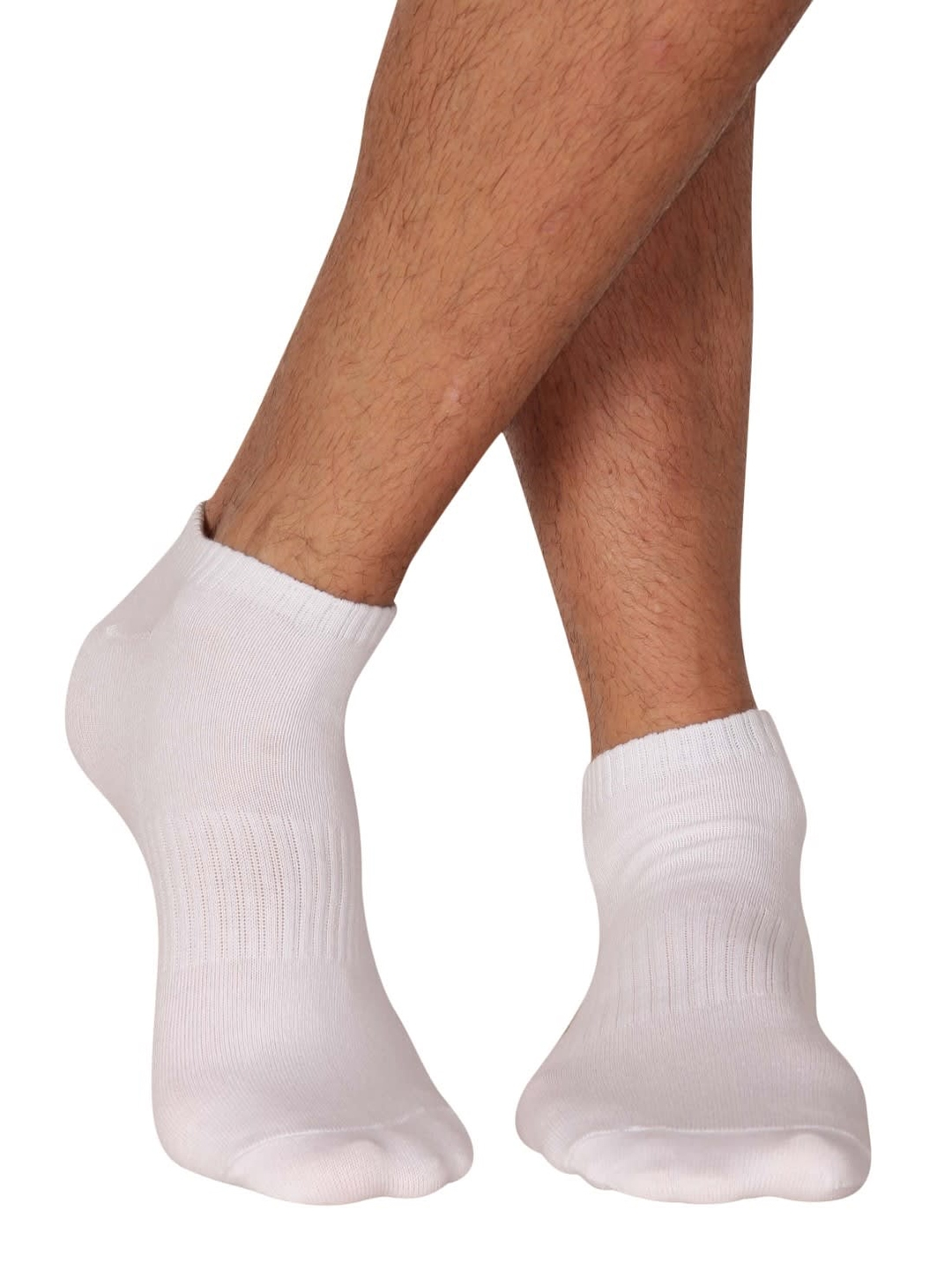Jockey Men White Solid StayFresh Ankle Length Socks