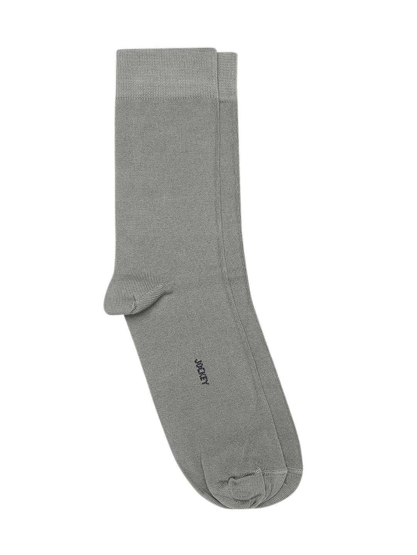 Jockey Men Grey Solid Calf Length Socks